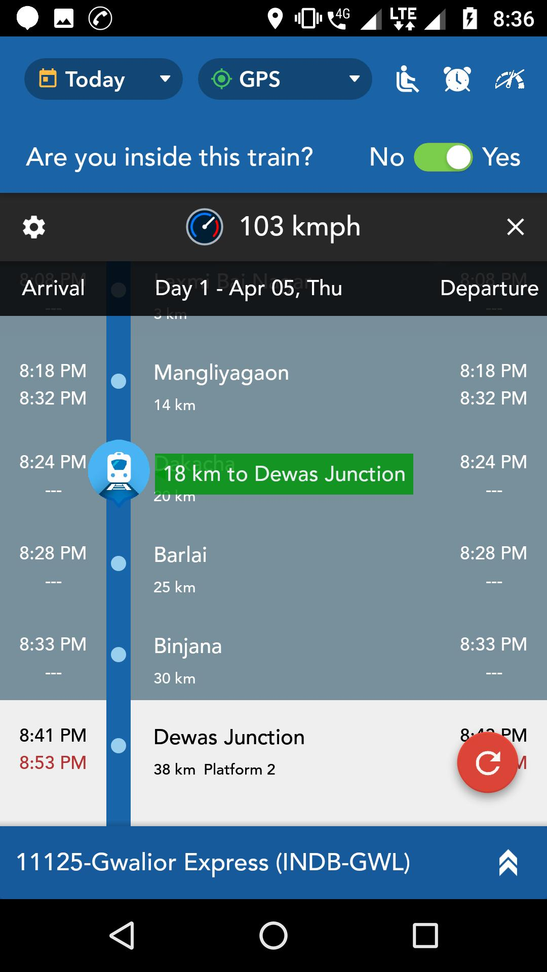 3273456-2: App name is - Where is my train if u r i