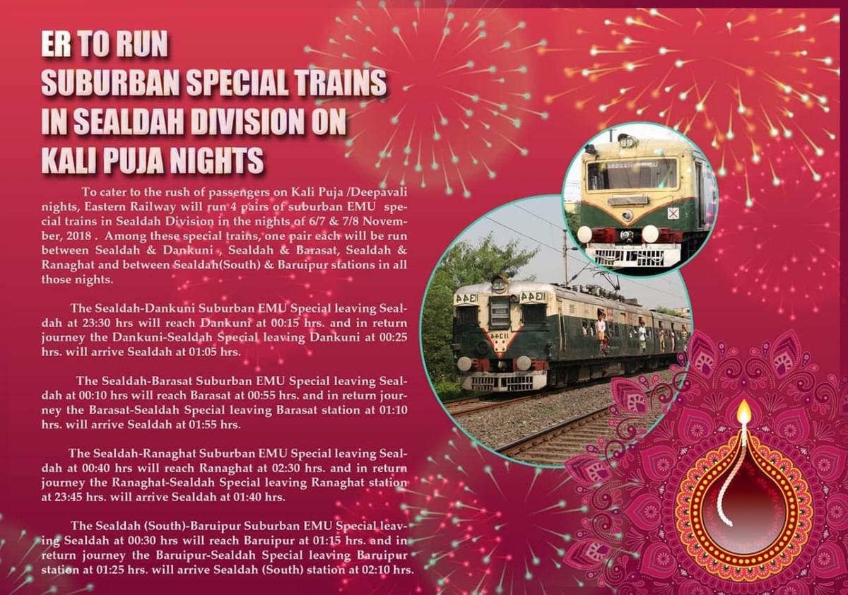 Barasat - Sealdah Kali Puja Special/3038S Travel Forum - Railway Enquiry