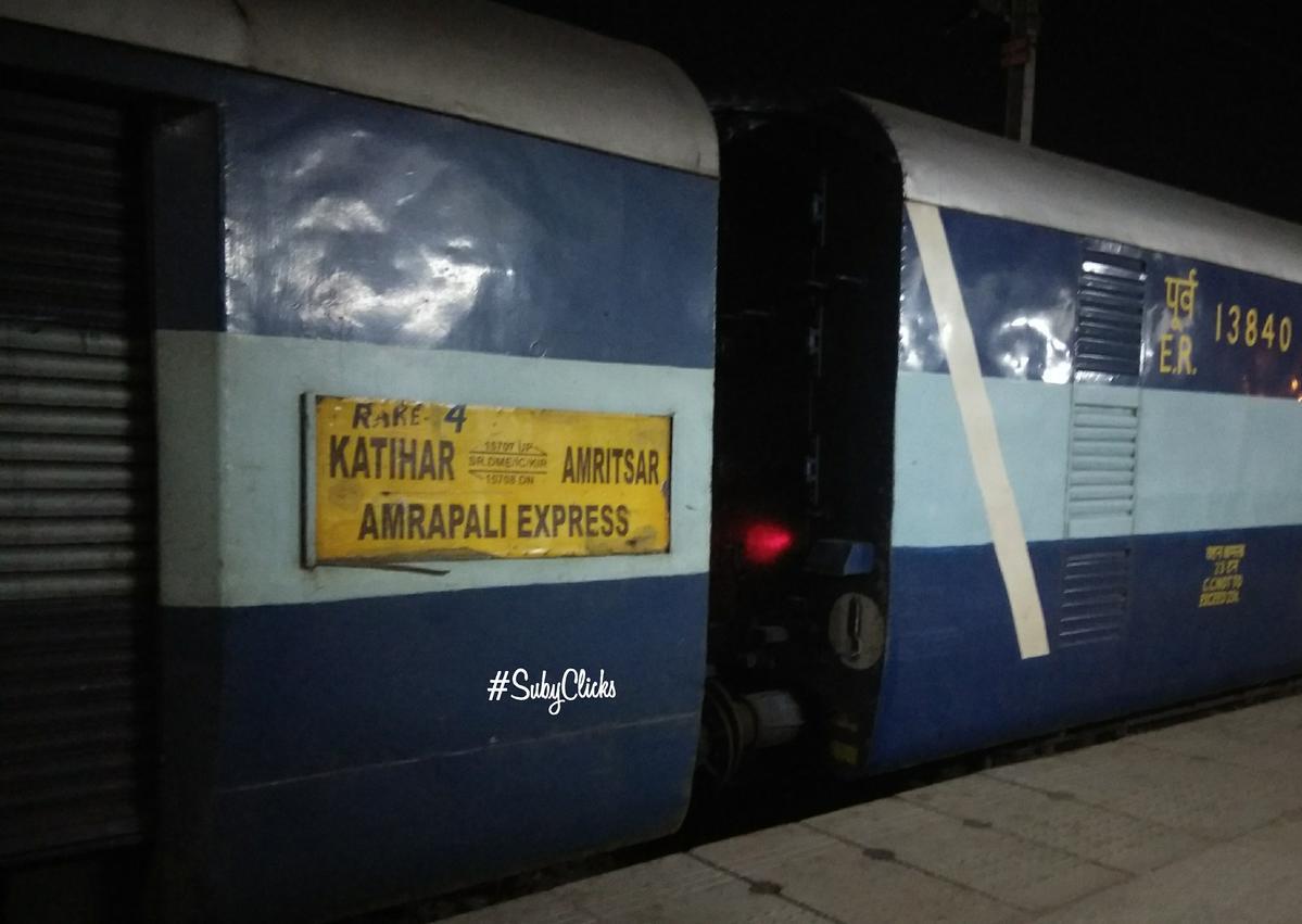 15708/Amrapali Express (PT) - Karhagola Road to Katihar NFR