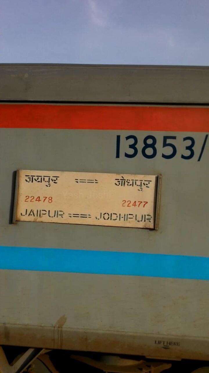 22478/Jaipur - Jodhpur SF Intercity Express - Jaipur to Jodhpur NWR/North  Western Zone - Railway Enquiry