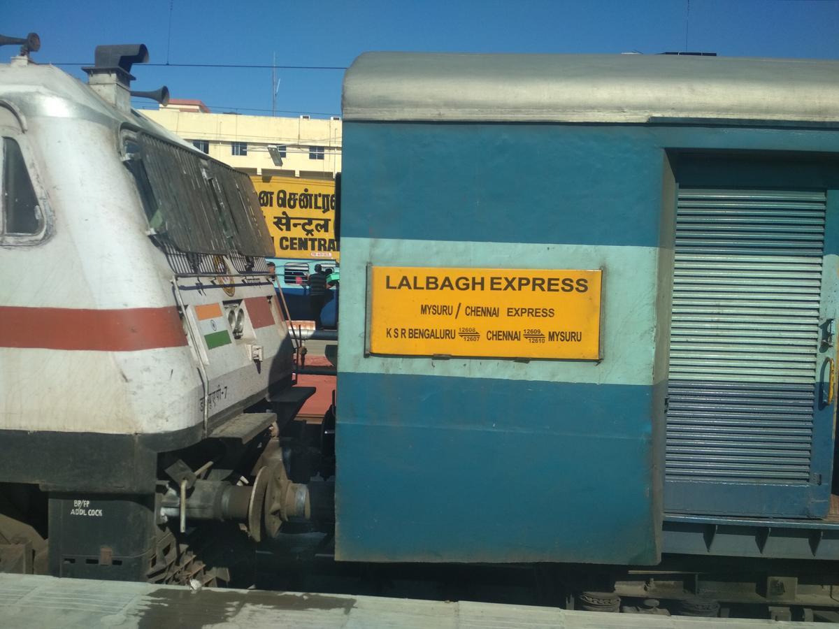 12609/MGR Chennai Central - Mysuru SF Express - Katpadi to