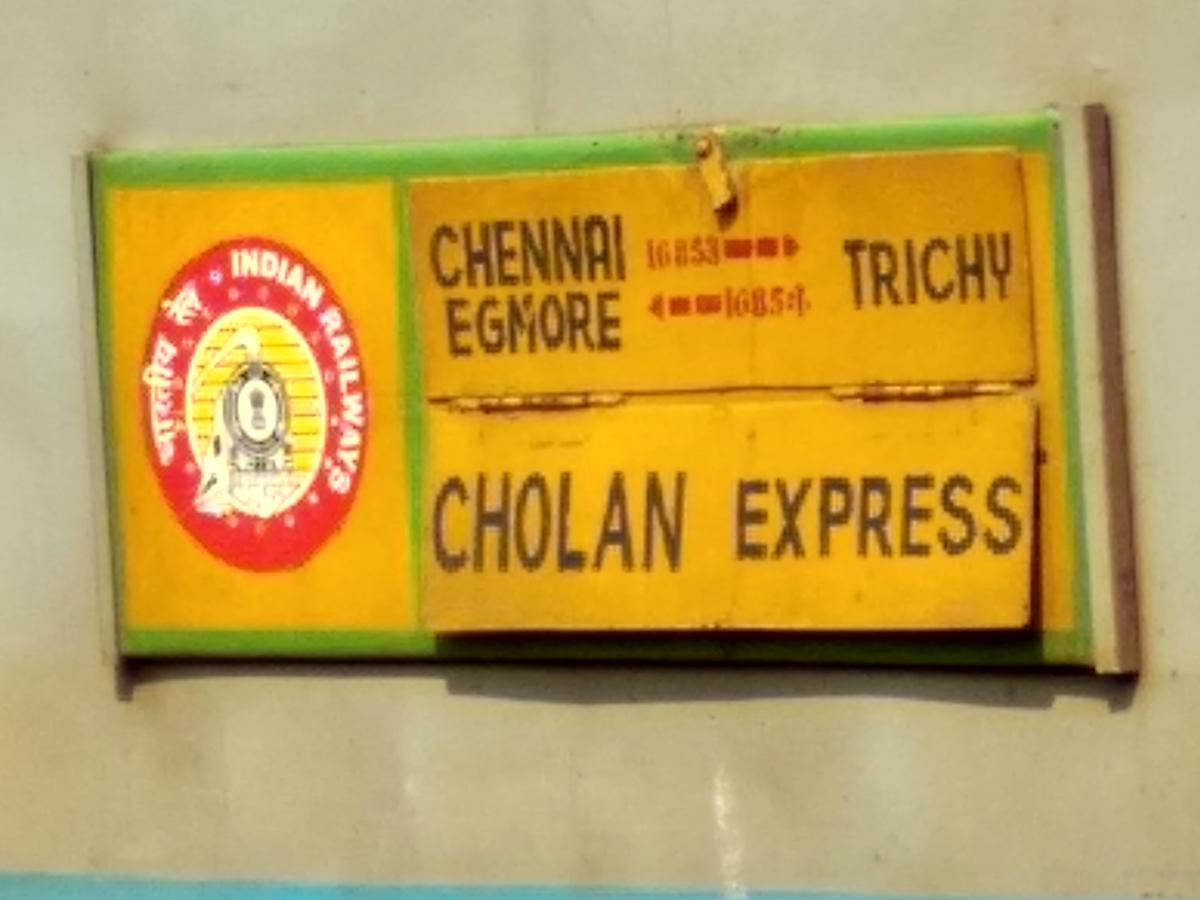 Cholan Express (PT)/16795 Time Table/Schedule: Chennai Egmore to Thanjavur  SR/Southern Zone - Railway Enquiry
